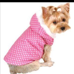 Lulupink hooded dog jacket